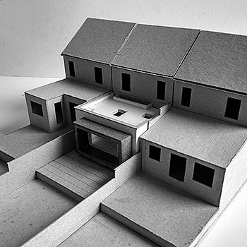 1 to 100 scale model of proposed rear extension to a terraced property in london
